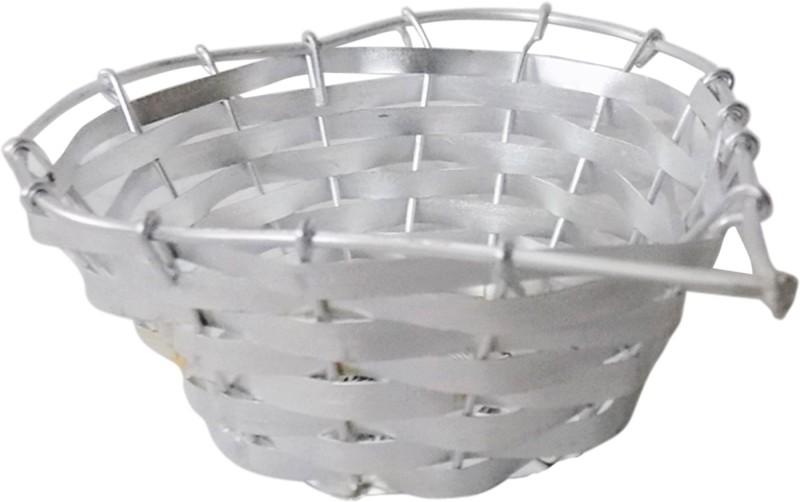 Stonic Heart_Shape_4 Bamboo Flower Basket without Artificial Flower & Plant(W: 8 cm x H: 3 cm x D: 5 cm)