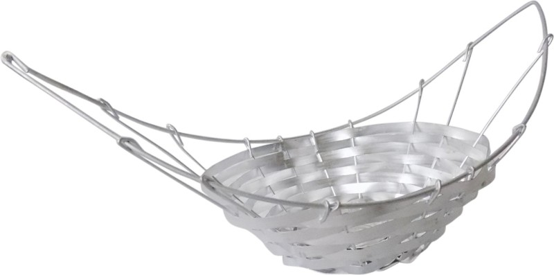Stonic Round_Shape_11 Bamboo Flower Basket without Artificial Flower & Plant(W: 15 cm x H: 5 cm x D: 5 cm)