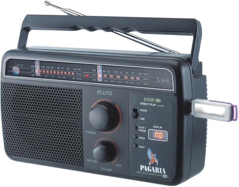 PAGARIA 5 Band Rechargeable USB FM Radio(Black)
