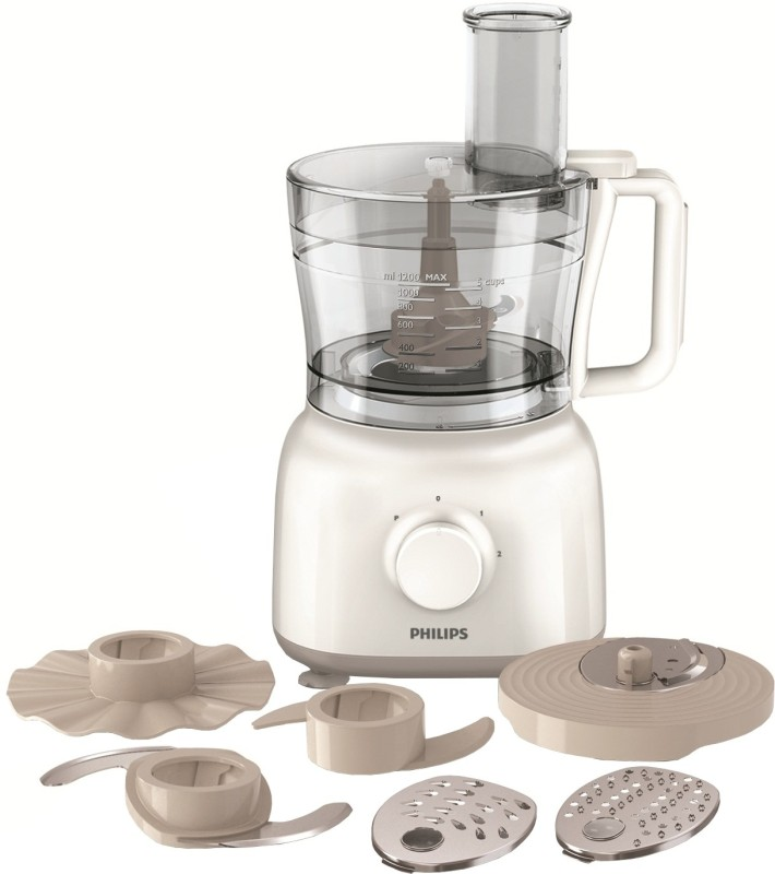 Philips HR 7627 650 W Food Processor(White)