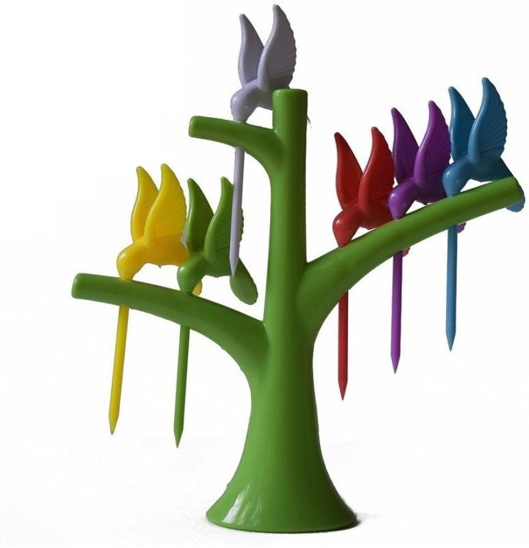 MK Hummingbird Plastic Fisk Fork Set(Pack of 7)
