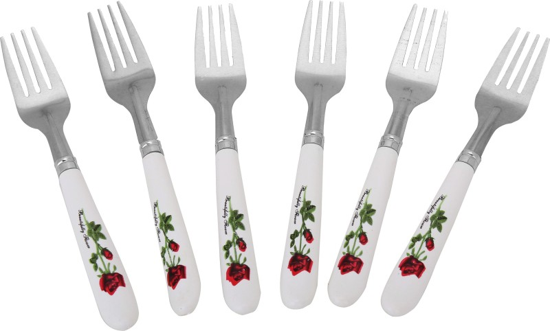 Global Gifts Amazing Disposable Stainless Steel Table Fork Set(Pack of 6)