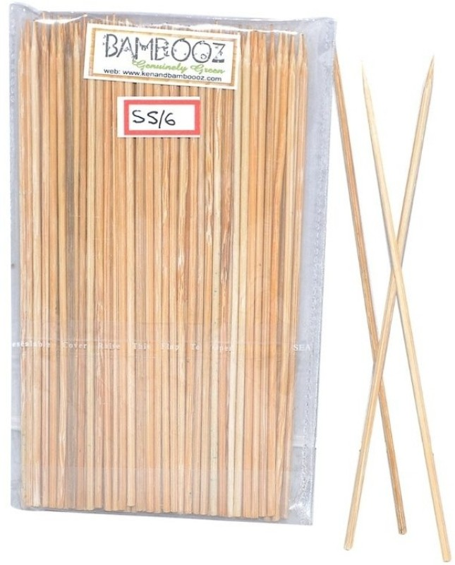 Bamboooz Skewers Disposable Bamboo Roast Fork Set(Pack of 100)
