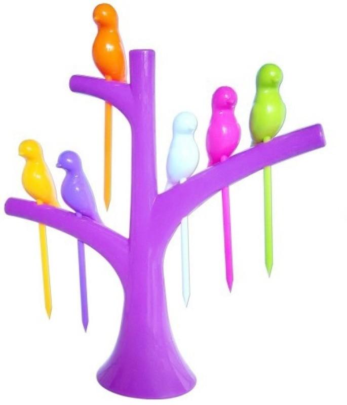 Magnas Plastic Fruit Fork Set(Pack of 7)