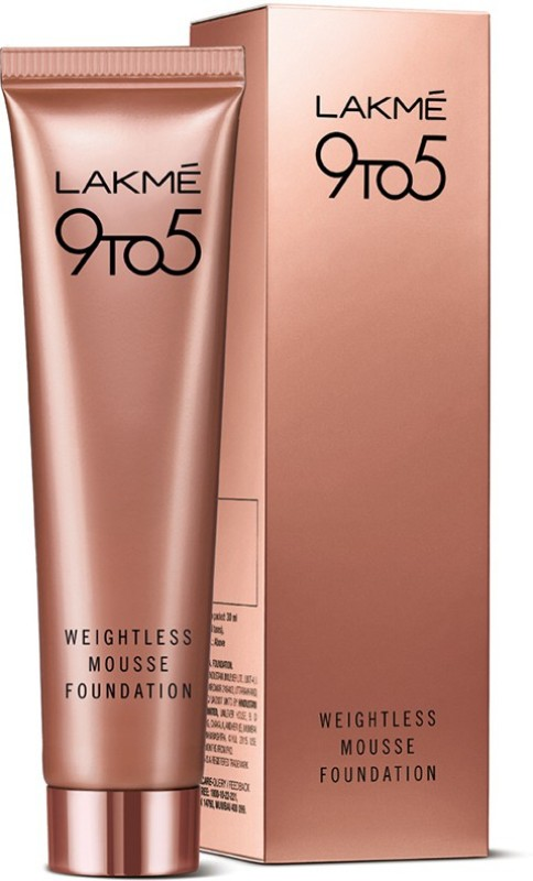 Lakme 9 to 5 Weightless Mousse  Foundation(03 beige caramel, 29 g)