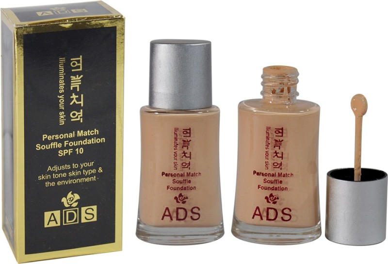 ADS Personal Match Souffle Foundation Pack of 1 Foundation(PHGS-1, 60 ml)