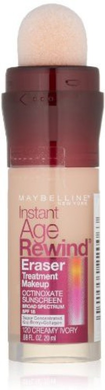 Maybelline Instant Age Rewind Eraser Treatment Makeup Foundation(Creamy Ivory 120, 20.11 ml)