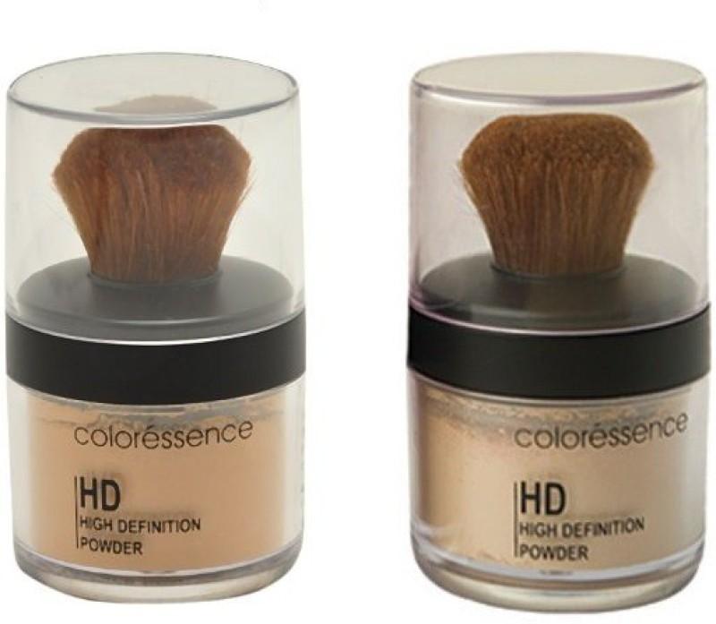 Coloressence High Defination Powder (Packof2) Foundation(Dusky, SoftBeige, 10 g)