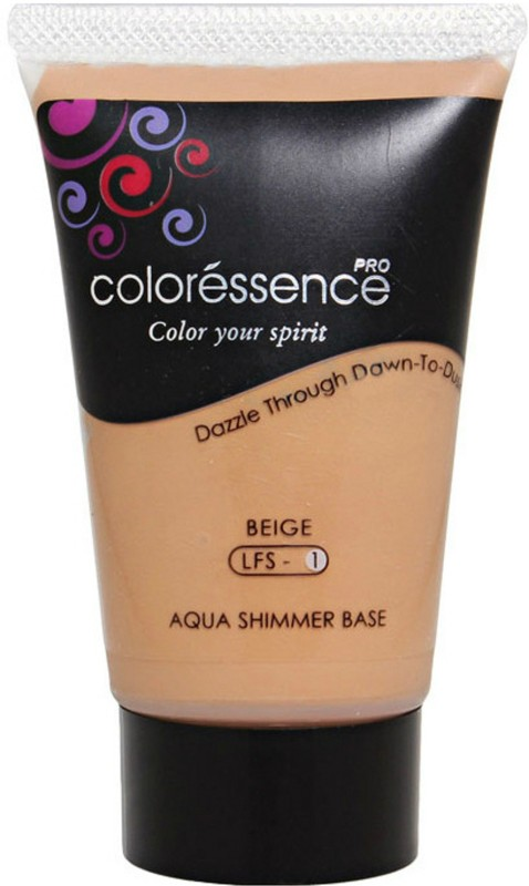Coloressence Aqua Shimmer Base Foundation(Beige LFS - 1, 35 ml)