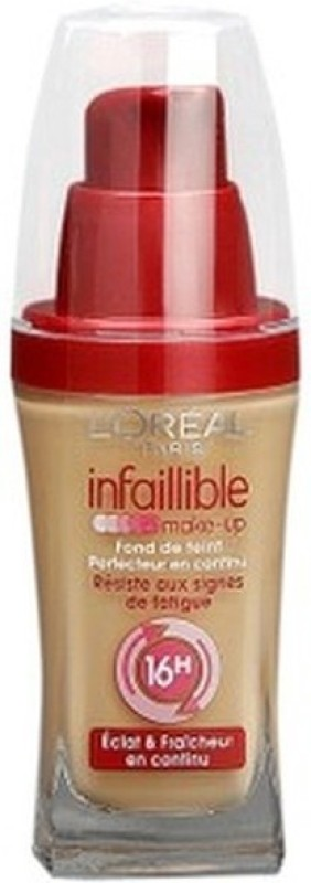 LOreal Paris Infallible Long-Lasting Foundation(140 - Golden Beige, 30 ml)