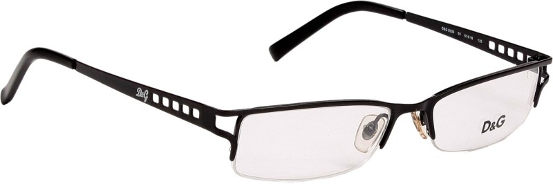 Dolce & Gabbana Half Rim Rectangle Frame(51 mm)