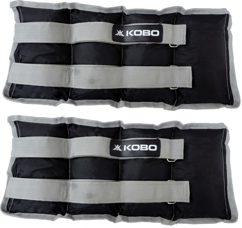 Kobo Aerobic Cardio Home Gym Exercise & Fitness (Imported) (5 Kg x 2) Black, Grey Ankle & Wrist Weight(5 kg)