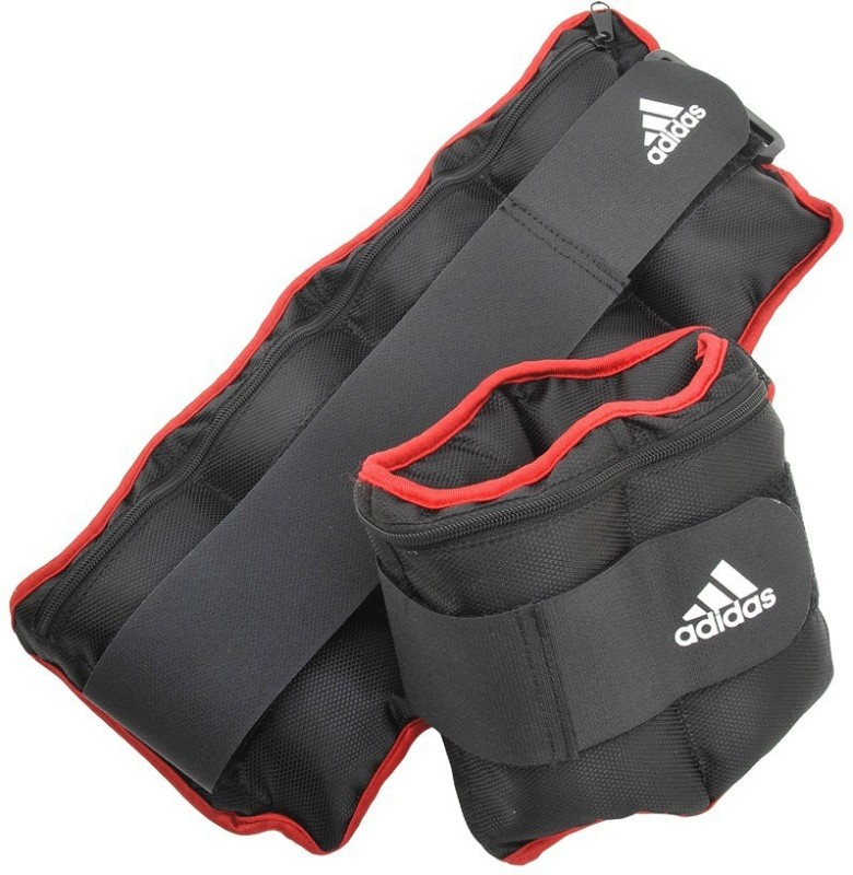 ADIDAS Adjustable Wrist Black, Red Ankle & Wrist Weight(1 kg)