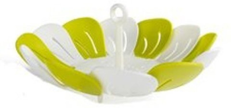 Connectwide Plastic Fruit & Vegetable Basket(Green, White)