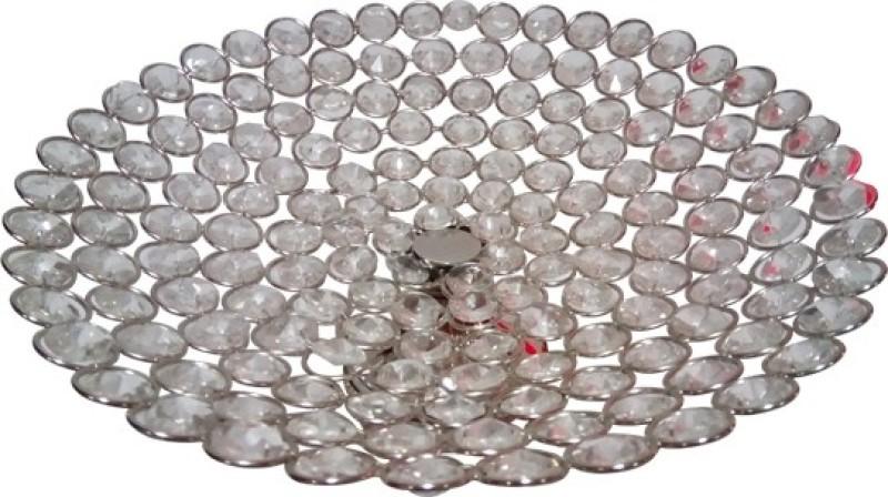 Decor8 Crystal, Aluminium, Iron Fruit & Vegetable Basket(Silver)