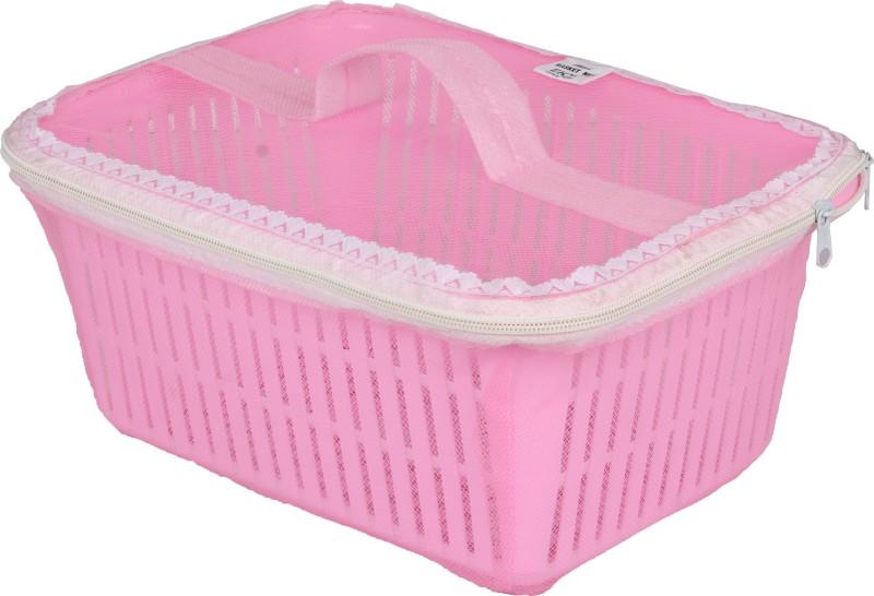Tanyash Plastic Fruit & Vegetable Basket(Pink)