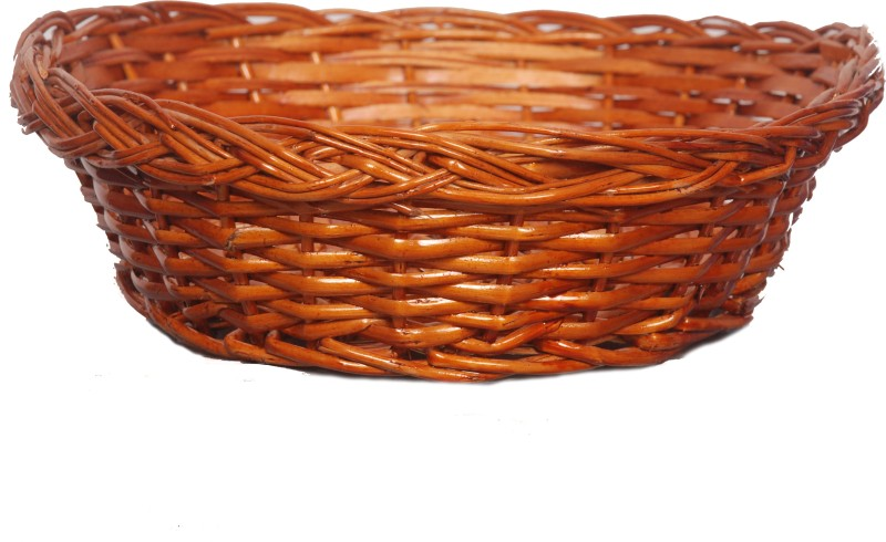 Sri Datta Bamboo Fruit & Vegetable Basket(Brown)