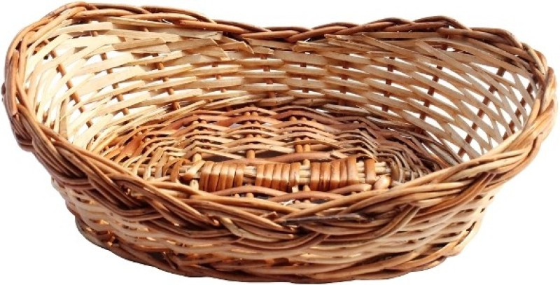 SHOPPINGKART24 Bamboo Fruit & Vegetable Basket(Brown)
