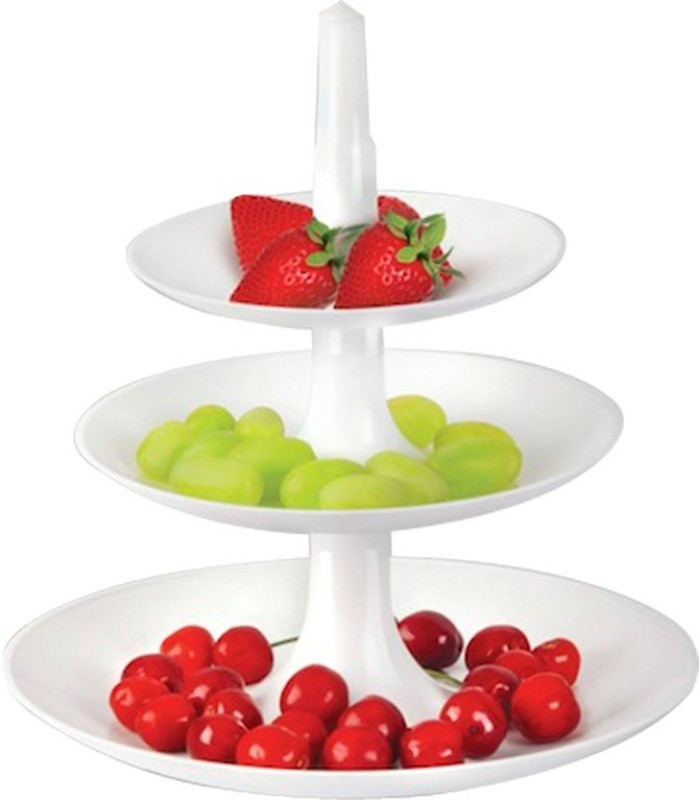 Disney Waterfall tray Plastic Fruit & Vegetable Basket(White)