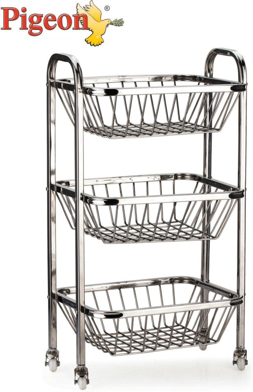 Pigeon Trolley Stainless Steel Kitchen Trolley