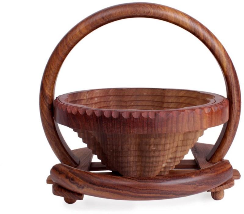 Store Indya Wood Fruit & Vegetable Basket(Brown)