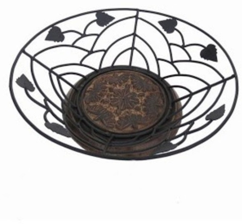 Onlineshoppee Iron Fruit & Vegetable Basket(Black)