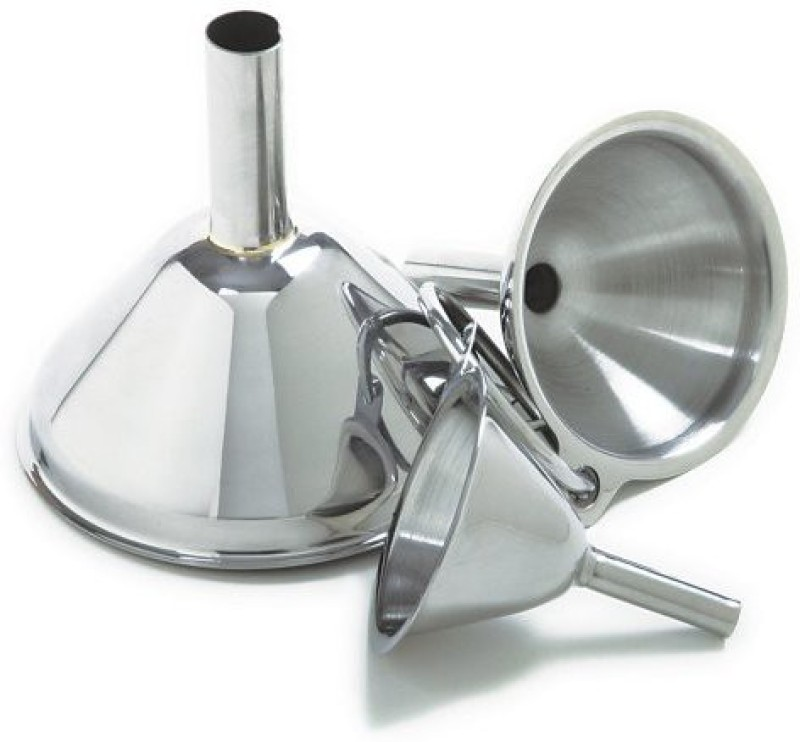 Norpro Stainless Steel Funnel Set(Silver, Pack of 3)