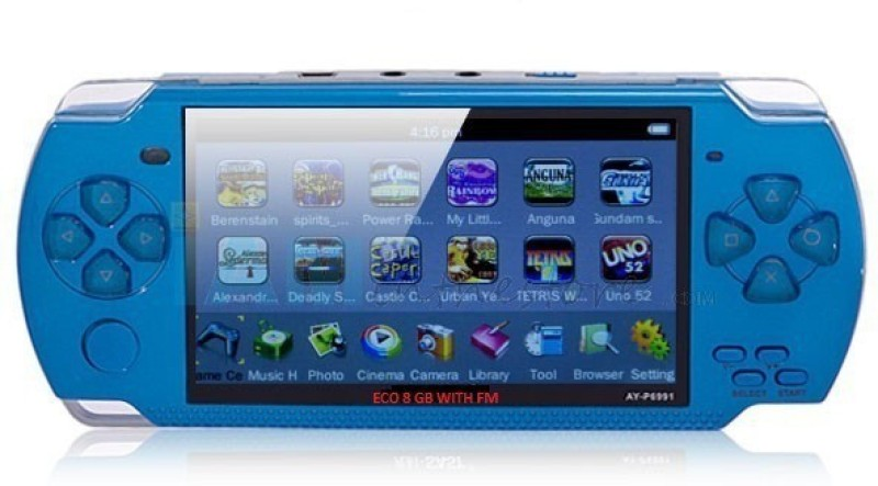 Gadget-Wagon ECO-1 8GB 4.3 Inches With FM Radio & 1.3 MP Camera (BL) 8 GB with Contra, Mario, 10000 Games Inbuilt(Blue)