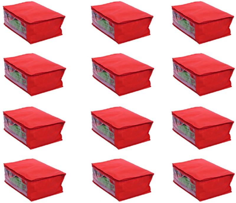 Kuber Industries Designer Saree Cover Set of 12 Pcs in...