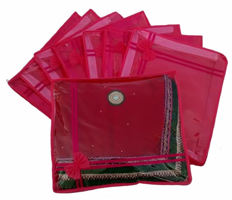 indi-bargain-designer-pink-set-of-8-transparent-double-saree-coverpink