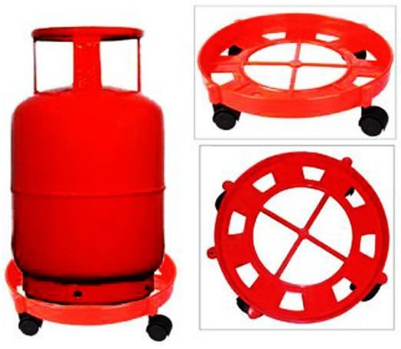 AutoStark Gas Cylinder Trolley(Red)