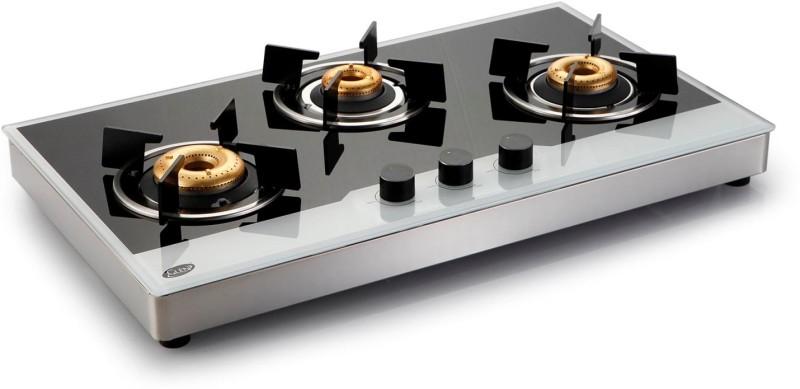 GLEN Glass Manual Gas Stove(3 Burners)