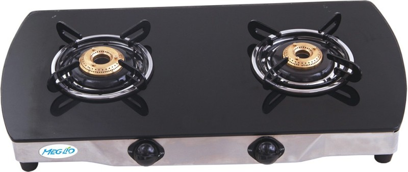 Meglio Glass Automatic Gas Stove(2 Burners)