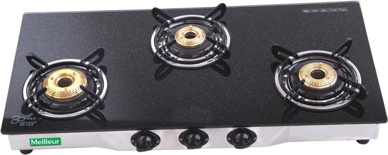 Meilleur Glass Automatic Gas Stove(3 Burners)