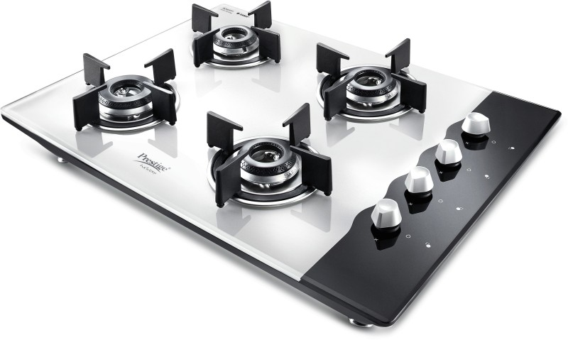 Prestige Hob Top Glass Automatic Gas Stove(4 Burners)