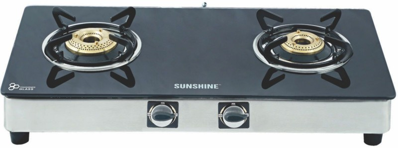 Sunshine Glass Manual Gas Stove(2 Burners)