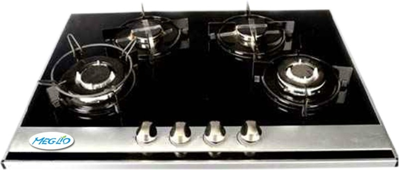 Meglio Glass Automatic Gas Stove(4 Burners)