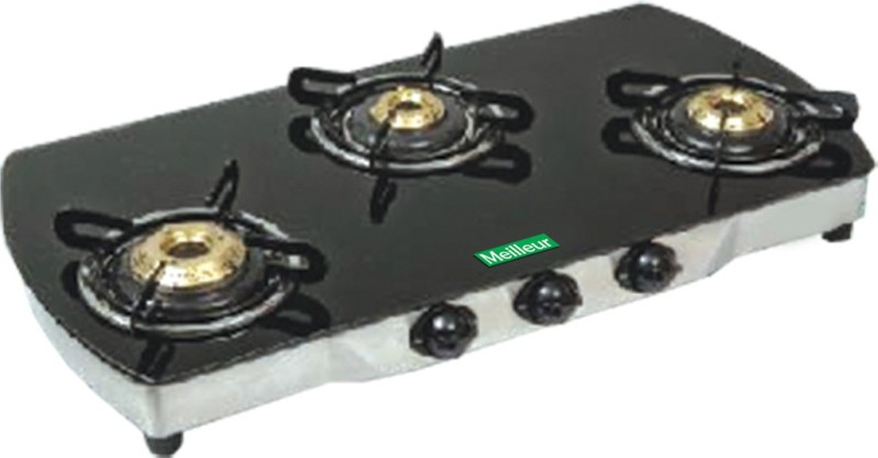 Meilleur Glass Manual Gas Stove(3 Burners)