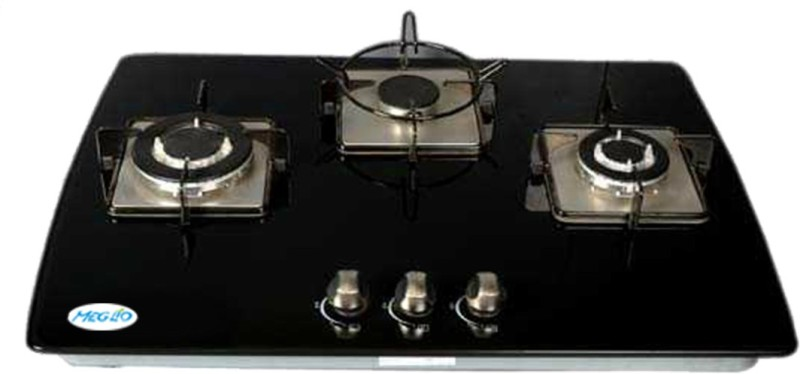 Meglio Glass Automatic Gas Stove(3 Burners)