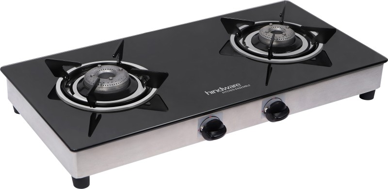 Hindware Neo Classic Stainless Steel, Glass Manual Gas Stove(2 Burners)