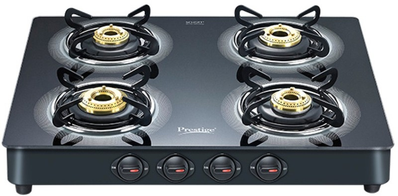 Prestige Royale Plus Glass Manual Gas Stove(4 Burners)