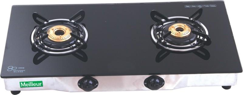 MEILLEUR Glass Automatic Gas Stove(2 Burners)