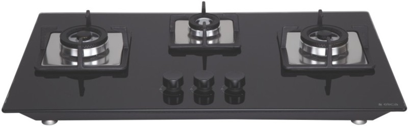 ELICA FLEXI BRASS HCT 375 DX Hob Glass Automatic Gas Stove(3 Burners)
