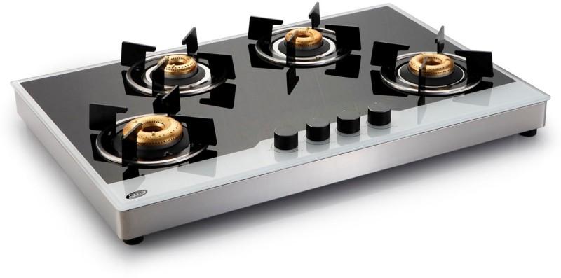 GLEN Glass Automatic Gas Stove(4 Burners)