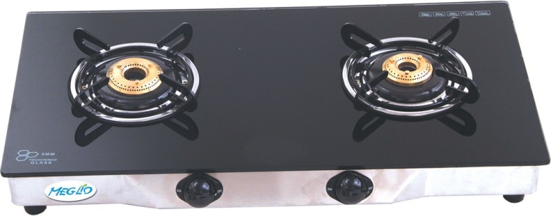Meglio Glass Manual Gas Stove(2 Burners)
