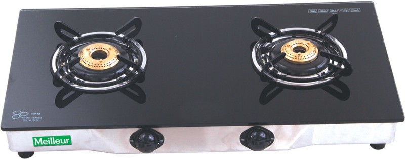 MEILLEUR Glass Manual Gas Stove(2 Burners)