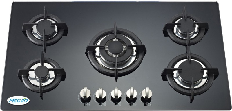 Meglio Glass Automatic Gas Stove(5 Burners)
