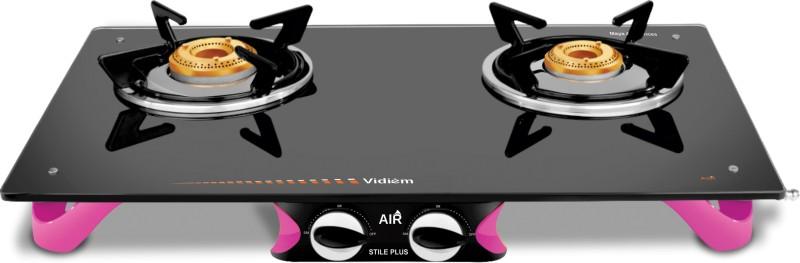 Vidiem AIR Stile Plus Glass Manual Gas Stove(2 Burners)