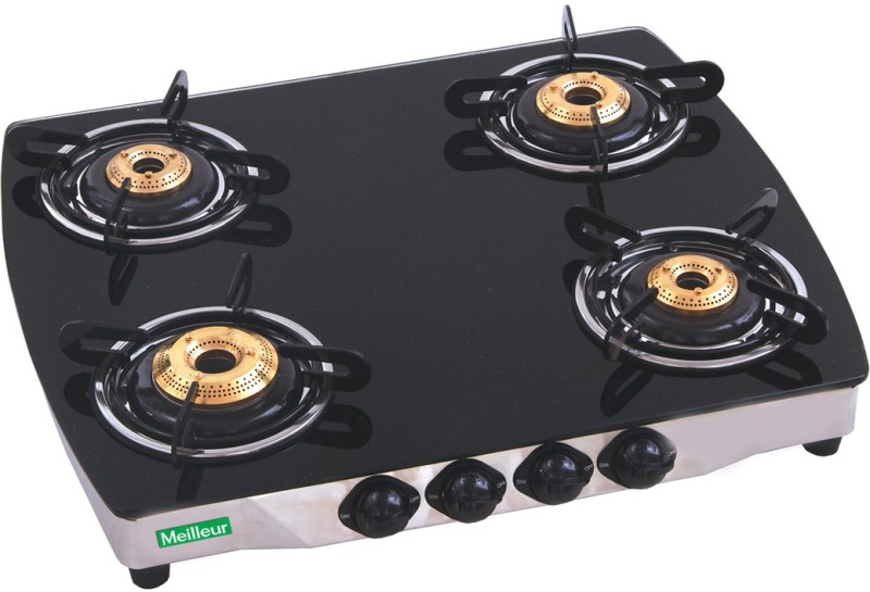 Meilleur Glass Manual Gas Stove(4 Burners)