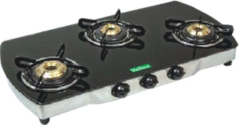 Meilleur Glass Automatic Gas Stove(3 Burners)